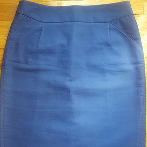 J.Crew Blue Pencil Skirt